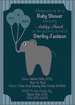 Baby shower invitation created for a friend.