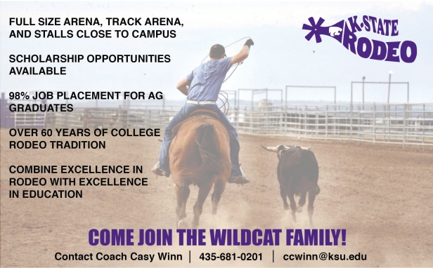 This is a half page magazine advertisement I made for the K-State Rodeo Club.