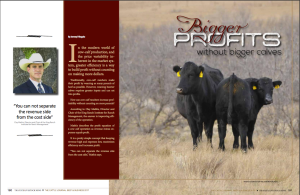 Article I wrote for Tri State Livestock News that was published in The Cattle Journal- Beef and Business 2017. The story focuses on strategies and tips for cow calf ranchers to increase their profitability without constantly trying to increase weaning weights.